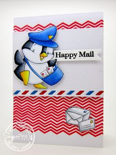 SugarPea Designs - card designed by Mary Johnson Happy Mail stamp set SugarCuts - Air Mail die set