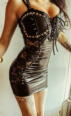 LOVE this dress by Toxic vision! maybe minus the spiked on the boobs :p