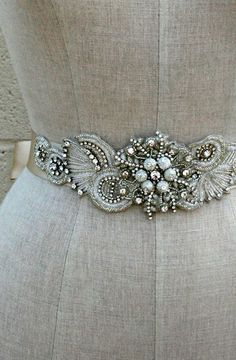 Gorgeous vintage inspired sash from Erin Cole Follow Bride's Book for more great inspiration.