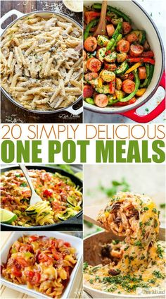 These Easy One Pot Meals take a lot less time and effort to cook, and then clean up takes hardly no time at all. My family loves them! #onepotmeals #dinner #familyfreshmeals #easyrecipe #recipe