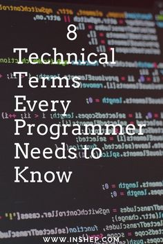 8 #technology terms every #programmer should know now!