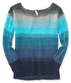 Sheer Striped Knit Sweater from Aeropostale