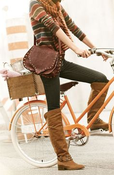 Love the outfit and the bike basket!