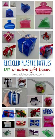 Amazing Gift Boxes Made Out Of Recycled Plastic Bottles Do-It-Yourself Ideas Recycled Packaging Recycled Plastic