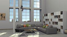 interior loft rendered in KeyShot by Chauvin Xavier.