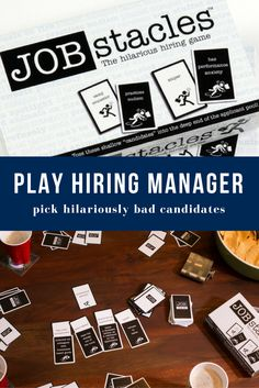 Play Hiring Manager and pick between job candidates who are generally terrible for the position. Awkward workplace moments, ridiculous combinations and hilariously awful thoughts in our heads all come together in Jobstacles! A great gift idea for friends with an eccentric sense of humor. For adults only!