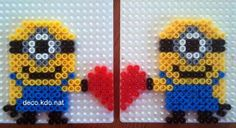 valentines day minions hama perler beads by deco kdo nat