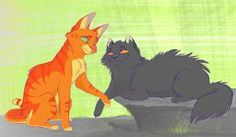 Fire star and yellow fang, Like a Son by Graystripe64