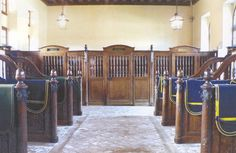 Horse stables at Château de Bouges France. Amazing woodwork and intricate…