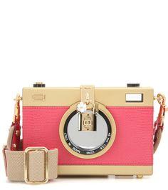 Camera Case pink leather shoulder bag