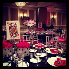 Event decor for casino/vegas theme