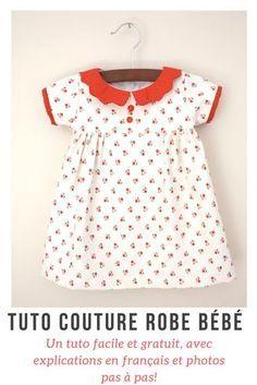 Un tuto de robe bébé ou enfant facile et gratuit, avec explications en français et photos pas à pas!