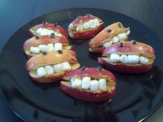 Halloween Party food and snacks: Monster Mouths!  Great for kids.
