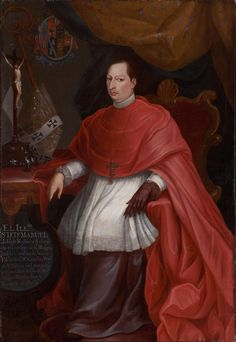 Don Manuel Jose Rubio y Salinas, Archbishop of Mexico/1754/Miguel Cabrera (Mexican,1695–1768)a mestizo artist trained in Mexico City in a high European style,became the best-known painter in Mexico under the patronage of Archbishop Manuel José Rubio y Salinas(1703–1765).Born in Spain,Rubio y Salinas was a leading figure in the Jesuit church&was appointed archbishop of Mexico in 1748. Inspired by Cabrera's depictions of the Virgin of Guadalupe,Rubio y Salinas was also instrumental in the…