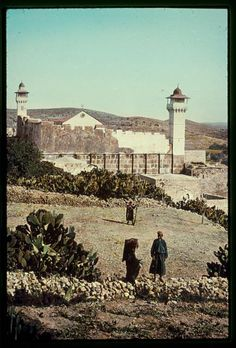 Southern Palestine, Hebron, Beersheba and Gaza area. Hebron, mosque over Cave of Machpelah. Palestine History, History Of Pakistan, Ancient Discoveries, Contemporary Photographers, Mosques, Holy Land, Historical Pictures, Middle East, Old Photos