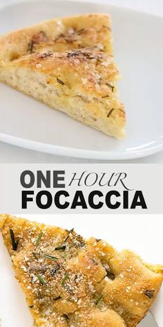 Super Easy One Hour Focaccia Bread. Made with fresh rosemary, garlic and parmesan cheese! Super Easy One Hour Focaccia Bread. Made with fresh rosemary, garlic and parmesan cheese! Easy Bread Recipes, Baking Recipes, Dessert Recipes, Italian Bread Recipes, Artisan Bread Recipes, Irish Recipes, Dinner Recipes, How To Make Bread, Quick Bread