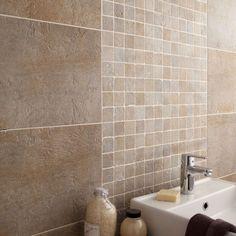 20 Leroy Merlin 2018 Cheap Bathroom Mosaic Check more at www. Tuscan Bathroom, Stone Bathroom, Mosaic Bathroom, Modern Bathroom, Small Bathroom, Beige Tile Bathroom, Master Bathrooms, Small Bathtub, Bathtub Shower
