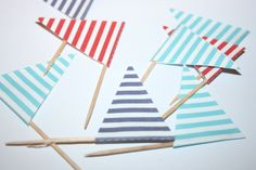 Free printable Nautical sandwich flags by Style My Party UK