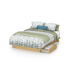 South Shore Step One Natural Maple 60-inch Full/Queen Platform Bed