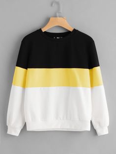 Shop Cut And Sew Sweatshirt online. SheIn offers Cut And Sew Sweatshirt & more t - Sweat Shirt - Ideas of Sweat Shirt - Shop Cut And Sew Sweatshirt online. SheIn offers Cut And Sew Sweatshirt & more to fit your fashionable needs. Sweatshirts Online, Printed Sweatshirts, Hooded Sweatshirts, Hoodies, Cute Sweatshirts, Sweet Shirt, Tokyo Street Fashion, Vetement Fashion, Grunge Style