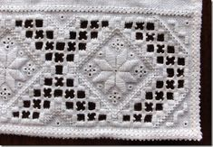 Folk Embroidery Patterns Details, Hardanger embroidery for the traditional costume (bunad) from the Hardanger region, Norway. Hungarian Embroidery, Hardanger Embroidery, Types Of Embroidery, Folk Embroidery, Brazilian Embroidery, Learn Embroidery, Embroidery Stitches, Embroidery Patterns, Floral Embroidery