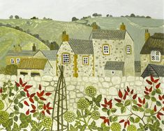 Country Village Art by Vanessa Bowman