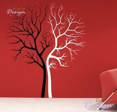 Tree lovers Art MURAL Decal Wall Paper Sticker black and white Tree Decals, Wall Stickers Murals, Vinyl Wall Decals, Wall Murals, Family Tree Wall, Tree Wall Art, Tree Art, Tree Stencil, Removable Wall Decals