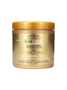 L'Oréal Paris EverCrème Sulfate-Free Moisture System Deep Nourishing Masque best for thick hair. The saboteur: Careless conditioning. If you rinse off conditioner seconds after you apply, you may as well have skipped it altogether—the proteins and lipids need time to penetrate the tiny holes and fissures in the hair shaft.  The savior: Patience. Leave it on for two whole minutes. Luster Busters: 6 Shiny-Hair Saboteurs