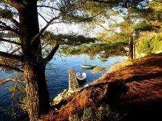 Petite cale à l'île aux moines - Golfe du Morbihan (56) France