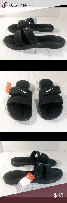 6c47df3cfb0f Women s Nike Ultra Comfort Double Strap Slides Women s Nike Ultra Comfort  Double Strap Slides Style ID  Brand  Nike Color  Black White Size  Women s  11 Nike ...