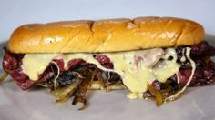 "Pastrami Sandwich ""Willie's"" cheesesteak with fondue"