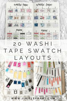Are you a washi tape collector? I am always trying to find new and unique ways to keep track of my washi tape collection but I can never quite find a way. Here are 20 different Creative Washi Tape Swatch Layouts For Your Bullet Journal. Bullet Journal Washi Tape, Bullet Journal 2020, Bullet Journal Layout, Bullet Journal Inspiration, Journal Ideas, Bullet Journals, Washi Tape Notebook, Washi Tape Planner, Tapas