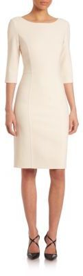Carolina Herrera Icon Collection Double-Face Wool Sheath Dress