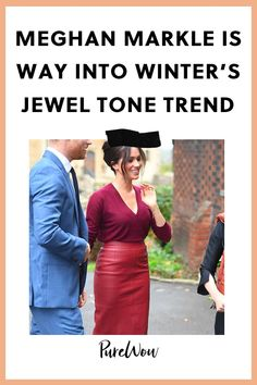 Meghan Markle Is Way Into Winters Jewel Tone Trend & These 3 Outfits Prove It family markle Meghan Markle Is Way Into Winters Jewel Tone Trend & These 3 Outfits Prove It family Chic Fall Fashion, Fall Fashion Trends, Fashion Advice, Fashion News, Women's Fashion, Emerald Dresses, Meghan Markle Style, Scuba Dress, Shearling Jacket
