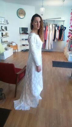 Bilde av kjolen som ikke ee helt ferdig ennå!