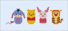 Winnie the Pooh parody Cross stitch PDF patterb door cloudsfactory/hama perler beads