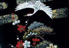 鶴 #japan #traditional #embroidery #bird