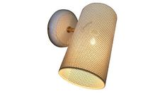 """Sixty Sconce with perforated steel cylinder diffusing the light and adding artistic value as well as function with an adjustable shade. Shade: 8""""x4"""" Projection: 8"""""""