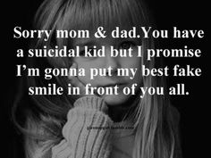 Im not sorry for my parents though, Im sorry for every one who acctully cares about me,