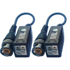 CTV Video Balun BNC Plugs to BNC over Twisted Pair Cable Adapter (PAIR) Features: convert HD video to / from coaxial cable and camera power on the twisted pair cable Twisted Pair, Usb Microphone, Noise Reduction, Logitech, Walkie Talkie, Hd Video, Being Used, Plugs, Cable