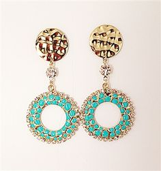 Check Out our Phancy Summer Day Earrings #fashion #jewelry #turquoise