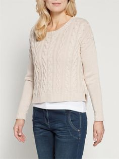 Sandwich relaxed cable sweater at The LBD Boutique http://thelittleblackdressboutique.co.uk/products/298803--sandwich-cable-pullover.aspx