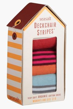 Women's Deckchair Stripe Gift Box O' 3