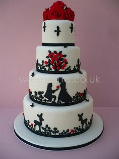 When Sean mentioned the cake he said maybe a multi tiered thing with silhouettes - dogs, sci fi stuff, gaming, etc  Just putting this in as a basic example