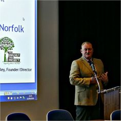 Project founder Luke Woodley presentation to the Healthwatch Norfolk AGM.
