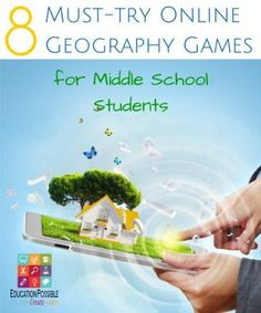 Middle school students must study geography to learn about the world. They will love playing these online geography games as part of their homeschool lessons. Let your teen learn geography in a fun and interesting way - with technology. Social Studies Games, 6th Grade Social Studies, Social Studies Classroom, Teaching Social Studies, Student Teaching, Geography Activities, Geography Lessons, Teaching Geography, Teaching History