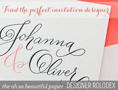 DIY Wedding Invitation Ideas and Inspiration | Oh So Beautiful Paper