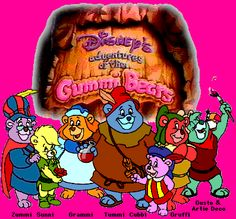 This was one of my fav shows as a kid!!!!! Gummi Bears....bouncing here and there and everywhere...