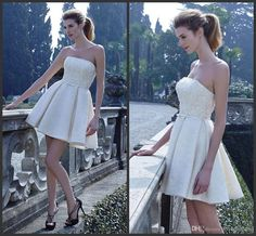 A Line Wedding Dresses Cheap Price Strapless Neck Elegant Sweet Bridal Gown Hot Sale