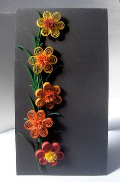 Quilled flowers from Botanical Quilling Japan Quilling Flowers Tutorial, Paper Quilling Flowers, Paper Quilling Patterns, Quilling Paper Craft, Paper Crafts, Neli Quilling, Quilled Creations, Quilling Techniques, Diy And Crafts